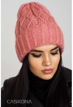 Стильная шапка CASKONA SIENA F UNI пудра (CS 114109)