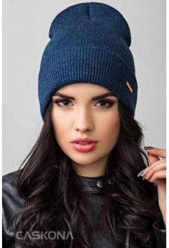 Качественная шапка CASKONA PERI 2 F UNI джинс (CS 50711)