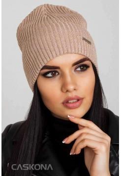 Женская шапка Caskona Ivy F Uni бежевый-меланж (CS 113504)